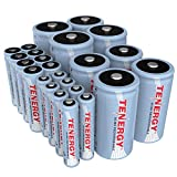 Tenergy High Drain AA AAA C and D Battery, 1.2V Rechargeable NiMH...