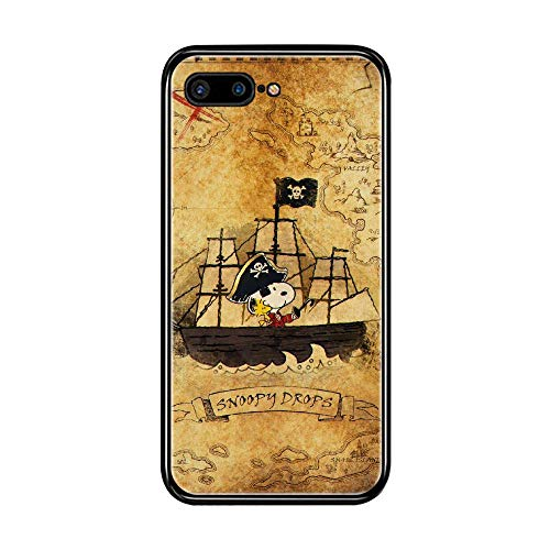 N/A Cover iPhone 7 Plus/iPhone 8 Plus 5.5 inch Case Snoopy Black Silicone Soft Case A-008