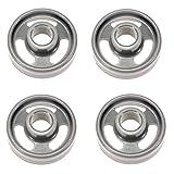 Lot de 4 roues de panier inférieur pour lave-vaisselle Haier 0120200964