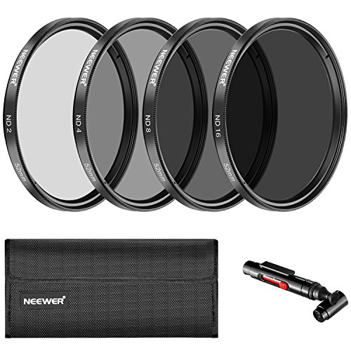 Neewer 52 mm Neutral Density ND2 ND4 ND8 ND16 Filter and Accessory Kit for Nikon...