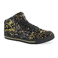 Hip Hop Lace Up Top High Top Sneaker With Sequins
