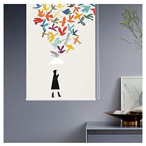 JIANFEI Roman Roller Shades Blind Honingraat Home Decoratie Raam Gordijn Waterdichte Stof verduistering Thermische Slaapkamer Keuken, 31 Grootte, Ondersteunt Aangepast