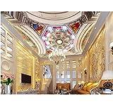 Europäisches Tapetenwohnzimmer der Decke 3d der europäischen Tapetenwanddekoration der Wohnwand 3d kreatives 3d-200X140CM