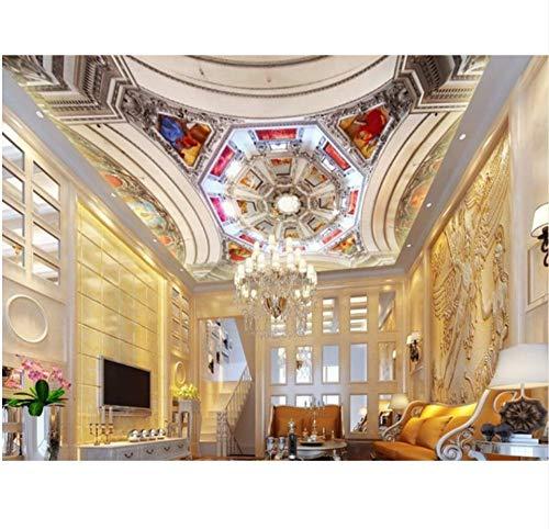 Europäisches Tapetenwohnzimmer der Decke 3d der europäischen Tapetenwanddekoration der Wohnwand 3d kreatives 3d-350X250CM