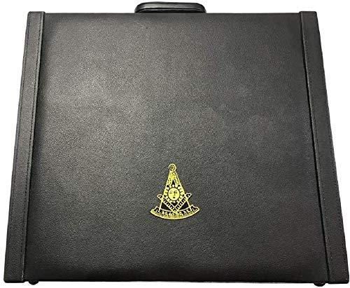 Masonic Regalia MM/WM and Provincial Past Master Apron freemason Masonic Briefcase with Yellow Embroidery Apron Freemason Briefcase