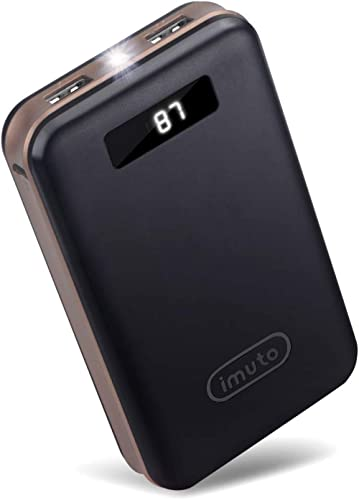 iMuto 20000mAh Portable Charger Compact Power Bank External Battery Pack LED Digital Display Smart Charge for iPhone ...