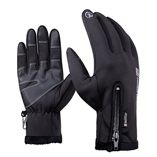 Andyshi Outdoor Gloves for Men & Women Winter Glove Windproof Waterproof Cycling Gloves Keep Warm Touch Screen for Smart Phone