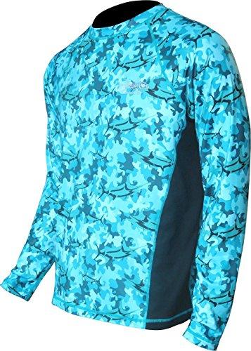 Tormenter Men's Marlin Camo Performance Shirt, Teal XL