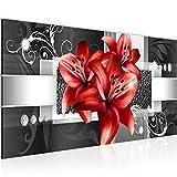 Wandbilder Blumen Lilien 1 Teilig Modern Vlies Leinwand