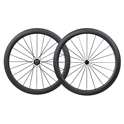 IMUST 700C Carbono Carretera Bicicleta 50 mm Clincher Tubeless Ready Rueda Powerway Hub R13 CN Habl¨®