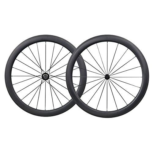 700C 50mm Carbono Carretera Bicicleta Ruedas Clincher...