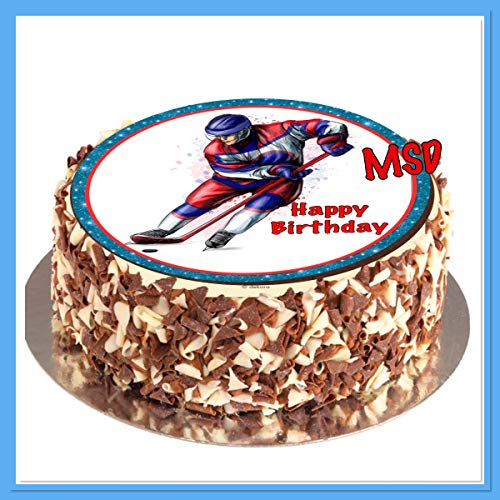 MSDeko Tortenaufleger Geburtstag, Tortendeko Eishockey