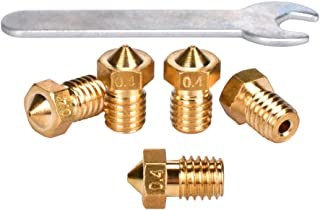 Lulzbot, Ultimaker, Pulse, Robo, MakeBot,etc Zeelo 12PCS M6 3D Printer Nozzle 0.4mm Brass Extruder Nozzle Print Head for E3D v6 Makerbot