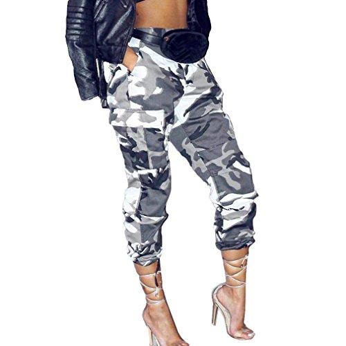 Mujer Pantalon Militar Elegantes...