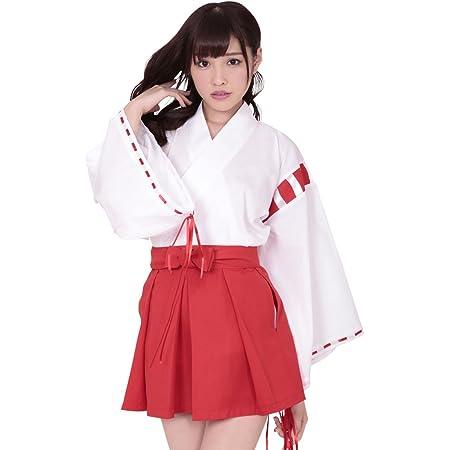 A&TCollection 夢のなかの巫女ちゃま(ゆめのなかのみこちゃま)/ミニ巫女 コスチューム 白×赤 レディース Mサイズ