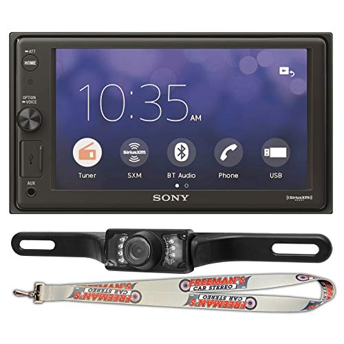 Sony XAV-AX1000 6.2' Apple CarPlay Media Receiver with Bluetooth and Licence Plate Back Up Camera Included
