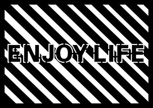 Marabu 028800006 - Silhouette-Schablone Enjoy Life, DIN A4