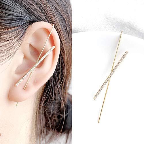 Orecchini femminili con orecchini fulmini, tendenza della personalità in stile europeo e americano, orecchini a clip con orecchio appeso all'orecchio esagerato alla moda