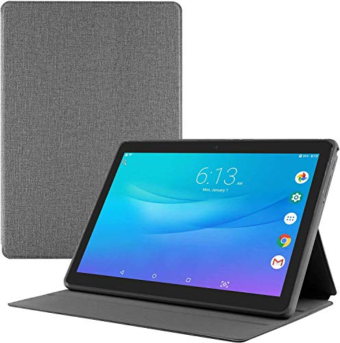 Tablet 10 inch + Protective Cover, Android Go 8.1 Tablet PC, 3G Phablet with Dual Sim Card Slots,Dual Camera,Google Certified, 1GB RAM, 16GB Storage, 1280X800 IPS Screen,WiFi, Bluetooth,GPS