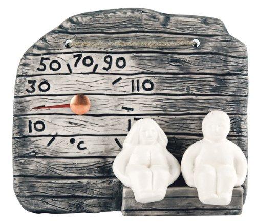 OPA Keramische Sauna Thermometer 'Oud Paar' - Fins ontwerp -