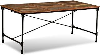 vidaXL Table de salle à manger Bois de récupération massif 180 cm