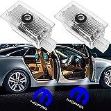 Luz de bienvenida de la puerta del coche 2-4pcs LED de la puerta del coche LED para Chrysler Lancia Thema 200 300 Series M MOPAR Logo Emblema Sombra Proyector Bienvenido Lámpara Coche Estilo Luz de la