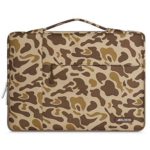 MOSISO Laptop Sleeve Compatible with 13-13.3 inch MacBook Air, MacBook Pro, Notebook Computer, Polyester Pattern Multifunctional Briefcase Carrying Bag, Brown Giraffe Spots