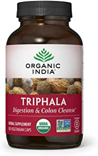 Organic India Triphala Herbal Supplement - Digestion & Colon Support, Immune System Support, Adaptogen, Nutrient Dense, Ve...