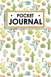Pocket Journal: Cute cactus themed personal journal keeps all your poems, dreams, class notes and sketches in one nifty book! (Cute Perfect Pocket Journal)
