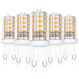 AGOTD Bombillas LED G9 4W Equivale 40W Halógena, 2700K Blanco Cálido, 360° Ángulo de haz Omni Directional, No Regulable,...