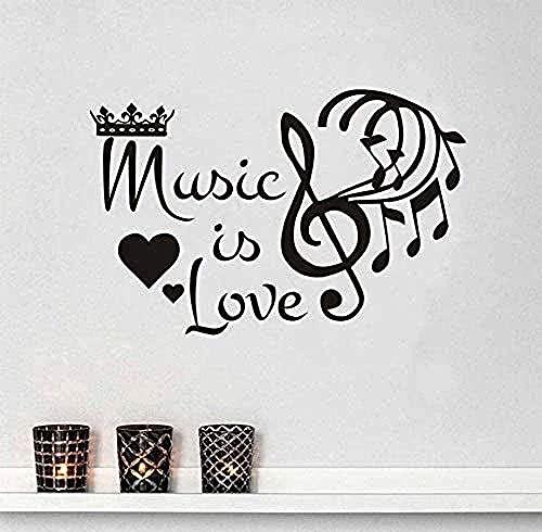 Etiqueta De La Pared Decoración De La Pared De La Música Con La Etiqueta De La Pared De Vinilo No Es Amor 58 X 89 Cm