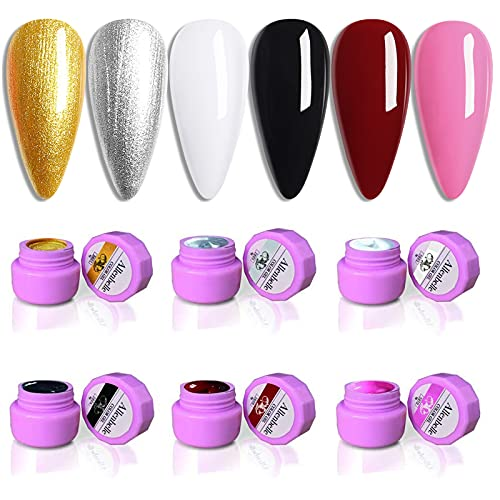 Allenbelle Smalto Semipermante Per Unghie Kit In Gel Uv Led Smalti Semipermanenti Per Unghie Nail Polish UV LED Gel Unghie (001)