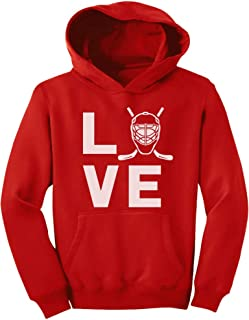 Tstars Love Hockey Pullover Hockey Lover Hockey Fan Youth Hoodie