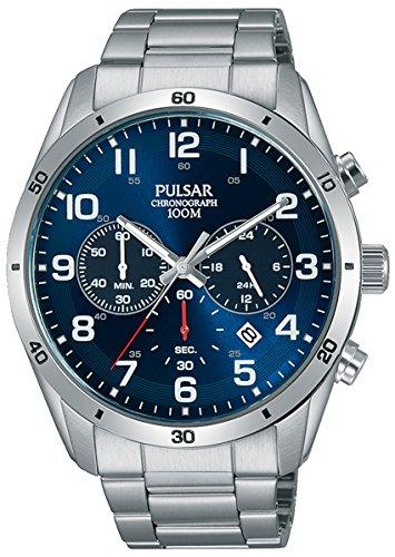 Pulsar Active Herren Uhr analog Quarzwerk mit Edelstahl Armband PT3829X1