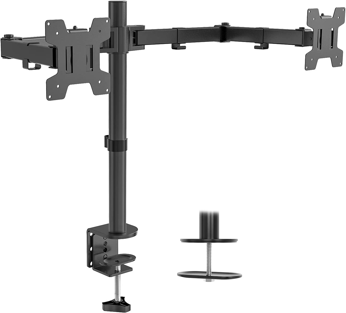"""WALI Universal Dual LCD Monitor  27"""" Desk Mount Stand $13.99 Coupon"""