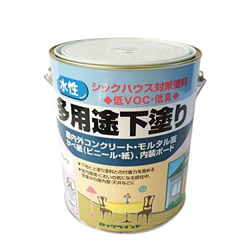 ロックペイント 水性シーラー 多用途下塗り ホワイト 1.6L H33-1501-6S