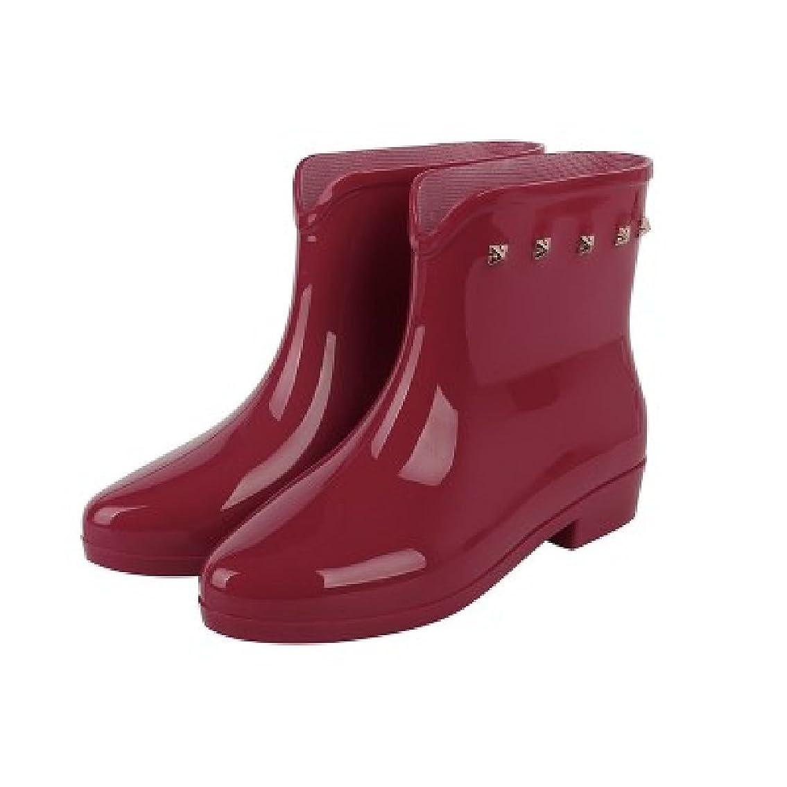 決定普通に発生[ヘブンデイズ] Heaven Days レインシューズ レインブーツ ショート 雨靴 スタッズ レディース 1704B0494