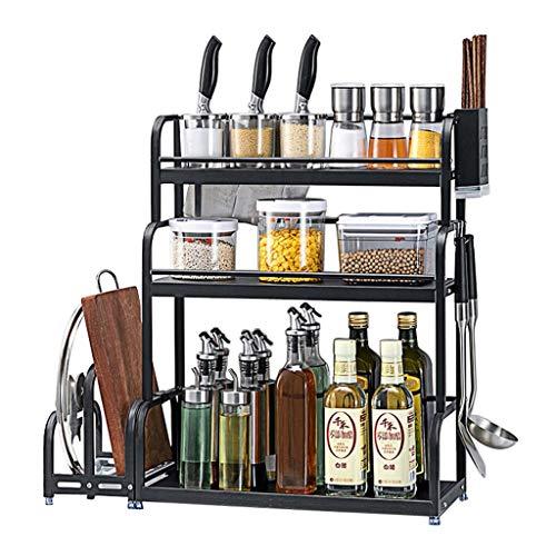 Spice Rack Organizador Organizador Estante Spice Soporte De Almacenamiento Estante De La Despensa De La Cocina Para Las Especias, Condimentos Y Utensilios De Cocina multiuso estanterías para especiero