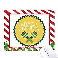 楽器ブラジルカーニバルを祝う ゴムクリスマスキャンディマウスパッド