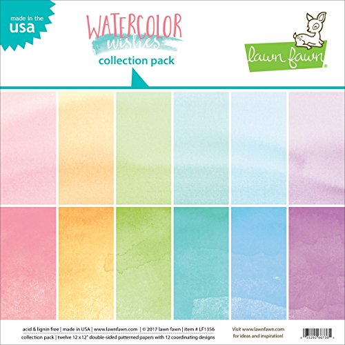 Lawn Fawn Double-sided Collection Pack 12'x12' 12/pkg-watercolor Wishes, 6