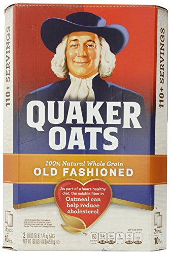 Quaker - dyza Old Fashioned Oats - 100% Natural Whole Grain - Two 5 LB Bags rzldm