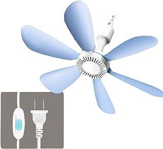 YYYUE Silencio Mini Ventilador de Techo, Pequeño eléctrico, Mosquitera en Estudiante Plaza en un Dormitorio, Brisa Inicio, 6-Blade de Ahorro de energía del Ventilador