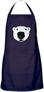 CafePress Polar Bear Sniff Apron (Dark) Kitchen Apron with Pockets, Grilling Apron, Baking Apron