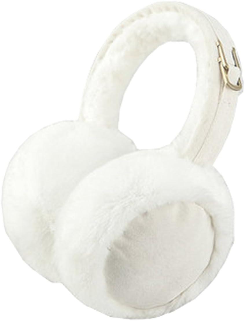Winter Outdoor Classic Soft Earmuffs Unisex Ear Warmer Muffs, WHITE