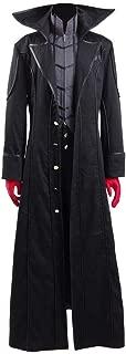Xiao Maomi Mens Akira Kurusu Cosplay Halloween Suit Uniform Black Coat Cosplay Costume