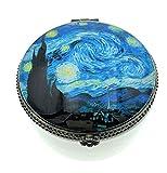 Value Arts Van Gogh Starry Night - Caja para Joyas, Cerámica y Cristal, 5,7 cm de Diámetro
