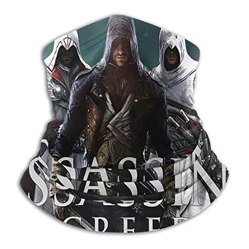 Custom made Assassin'S Creed Polaina de cuello multifuncional a prueba de polvo, pasamontañas, pañuelos, calentador de cuello bufanda para deportes al aire libre en clima frío