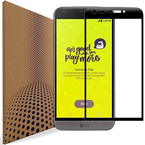 VLP 2 Stück Kompatibel mit LG G5 Panzerglas Schutzfolie, 3D Biegekante Anti Kratzen Fingerabdruck Resistent Panzerglasfolie Schutzfolien für LG G5 (Black)