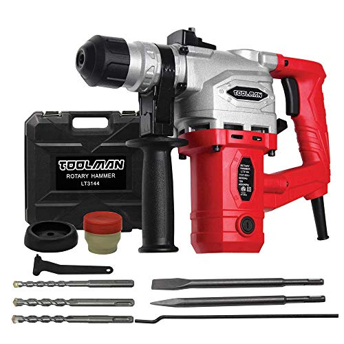 Toolman Electric Power Rotary Hammer Drill Driver 10 Amp 4000 BPM For Heavy Duty Corded LT3144