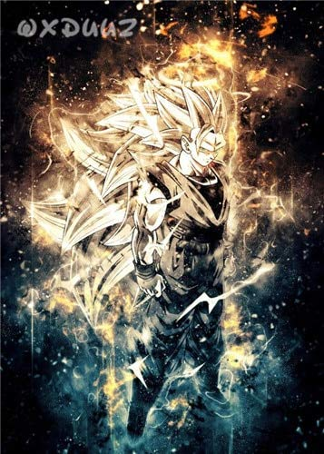 Dibujos animados Anime Comics Dragon Ball Personaje Super Saiyan Son Goku Vegeta Transform Fighting Canvas Painting Art Poster Niños Dormitorio Sala de estar Decoración del hogar